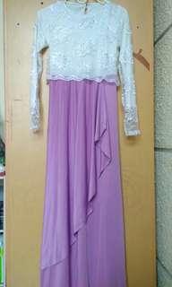 Dress pesta/dress brokat
