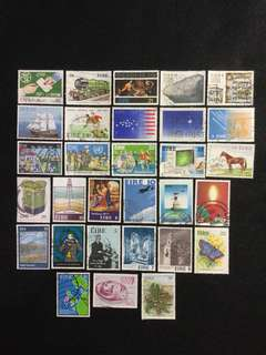 Ireland (EIRE) 30 Used Commemorative Stamps