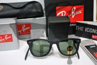 Authentic Ray Ban Wayfarer Folding RB4105 601S 54MM Large.