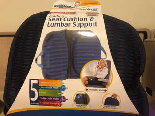 Folding Seat Cushion and Lumbar Support