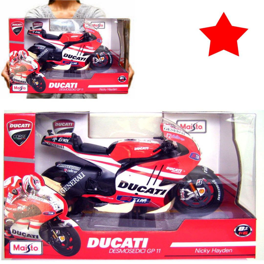 16 Motogp Motorcycle 69 Nicky Hayden Ducati Desmosedici Maisto Tamiya Scale Kits Approx 35cm In Length Toys Games Bricks Figurines On Carousell