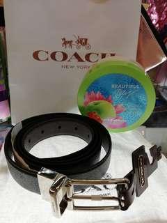Coach belt/ free shipping! W/ free Beautiful day ultra shea body butter