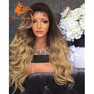 READY STOCK FRONT LACE WIG LACE WIG MURAH FRONT LACE WIG BLONDE BODY WAVE WAVY HAIR WIG