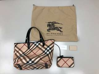 Burberry Nova Nickie Large Tote Shoulder Bag