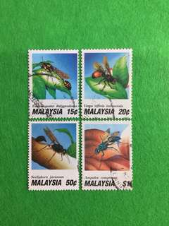 1991 Wasps 4 Values Used Set