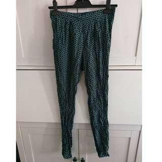 Size 8 H&M Green Retro Style Pants