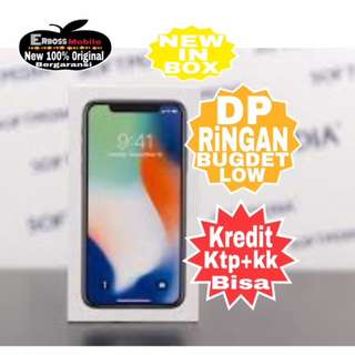 Dikredit Iphone X 256Gb New Original Apple promo ditoko ktp+kk Call/wa;081905288895