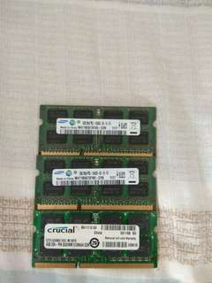 DDR3 laptop rams for sale
