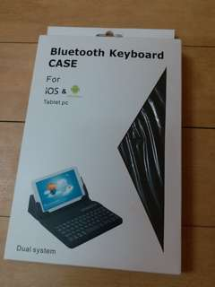 7-8 吋 tablet bluetooth keyboard case 藍牙鍵盤