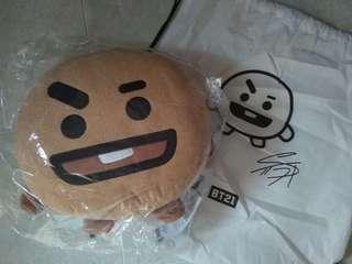 READY STOCK BTS BT21 Official Shooky Plushies Pillow