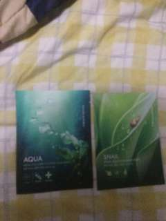 Nature Republic face mask snail &aqua