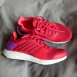 authentic adidas ultraboost (red/lilac)