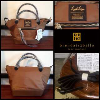 Legato Largo 2 Way Satin Bag Brown Small