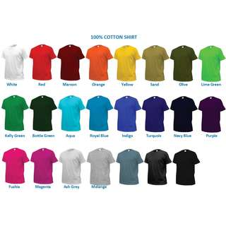 100% Cotton Quality Unisex Tshirt for Sales