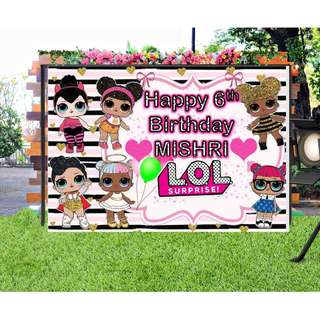 #Customize Custom BANNER Personalised Personalized Backdrop Background LOL Surprise!   Series