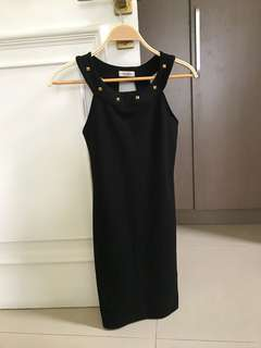 Pull and bear black dress