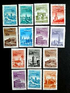 Hungary airmail vintage stamps