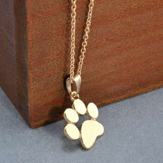 cute paw dog chain necklace pendant