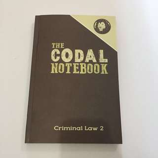 New Codal Notebook Crim 2 (negotiable)