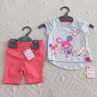 [NEW] Mothercare T-Shirt and Jersey Jeans