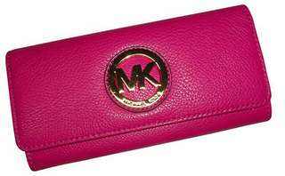 Authentic Michael Kors Fulton Continental Flap Leather Wallet