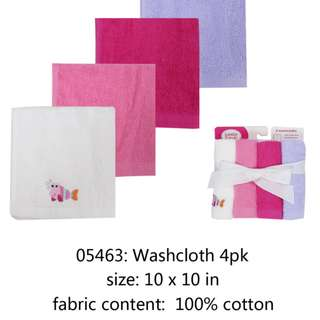 Waslap Bayi LUVABLE FRIENDS 05463 LF-BATH WASHCLOTH 4PK