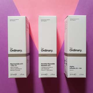 The Ordinary Niacinamide, Ascorbyl Glucoside, Alpha Arbutin #mcsbeauty