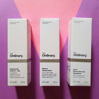 The Ordinary Marine Hyaluronic, Plant Derived Squalene #mcsbeauty