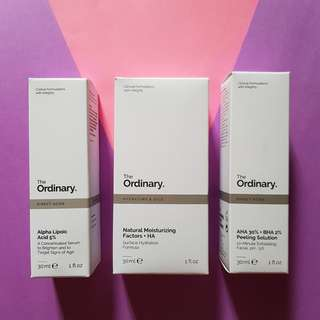 The Ordinary Alpha Lipoic, AHA BHA Peeling Solution #mcsbeauty