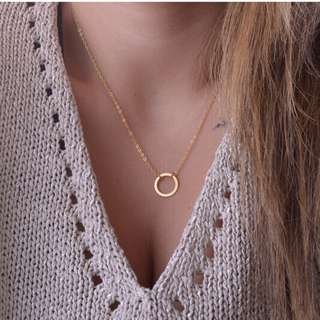 circle of life necklace gold