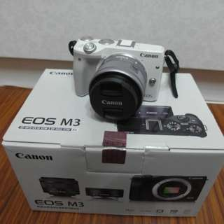【出售】Canon EOS M3 +15-45mm 微單眼相機 彩虹公司貨 盒裝完整