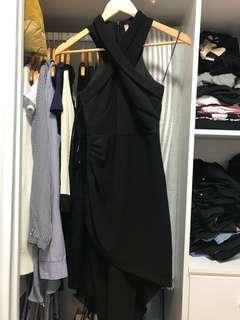 Asymmetrical bodycon Black dress