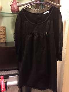 透膚拼接小洋裝