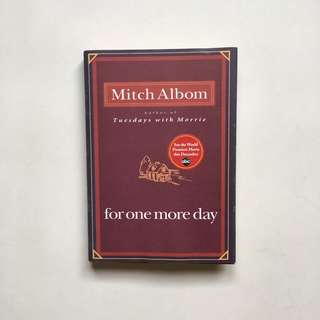 For One More Day by Mitch Albom (Hardcover)