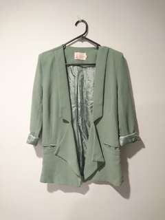 Mint green vintage blazer