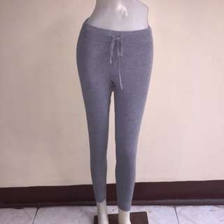 GRAY gartered zumba/jogging/sweat/leggings small