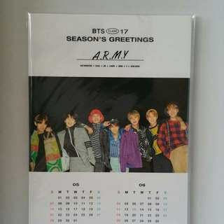 BTS SEASON GREETING SG 2017 STANDING CALENDAR OFFICIAL