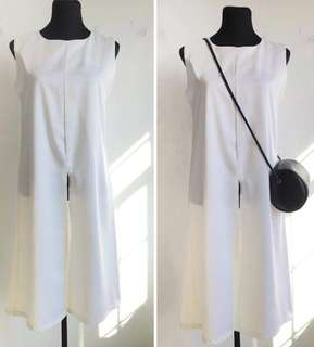 White Top or Dress with Front Slit