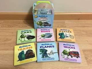 Disney Pixar Monsters Inc 6 Board books + Music CD