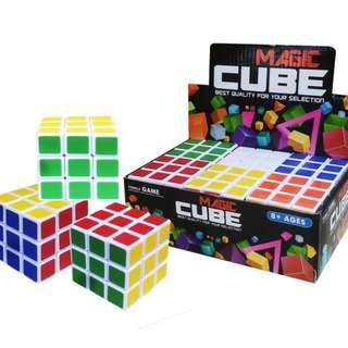 Mainan Edukasi Anak RUBIK MAGIC CUBE POLOS (1BX 6) - 8823