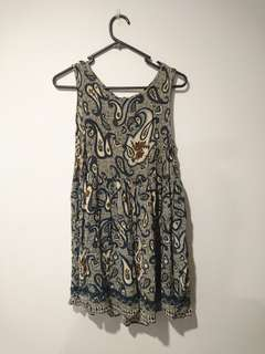 River island paisley print babydoll dress