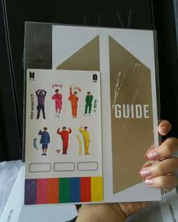 BTS 4TH ARMY KIT GLOBAL MEMBERSHIP KIT GUIDE CARD + STICKER OFFICIAL