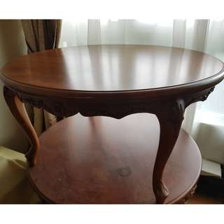 Indonesia solid wood round table