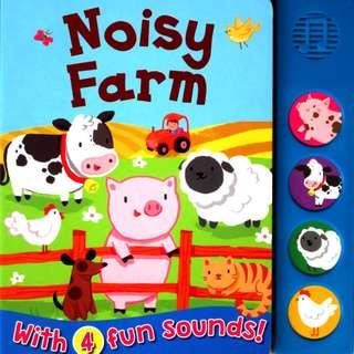 Buku Anak NOISY FARM SOUND BOARD BOOK WITH 4 FUN SOUNDS!