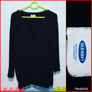 Old Navy Black Fashion Blouse