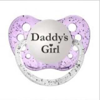 Ulubulu Pacifier | Purple DADDY's GIRL