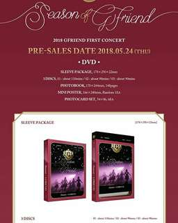 GFRIEND-2018 GFRIEND First Concert: Season Of GFRIEND [DVD/Blu-ray]