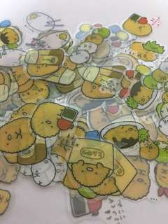 Cute Loose Individual translucent Stickers