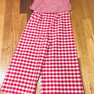 ASOS Red Gingham Jumpsuit