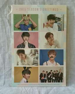 BTS SEASON GREETING 2015 SG 15 STICKER ONLY